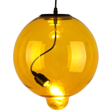 Závěsné svítidlo Altavola Design Modern Glass Bubble žluté