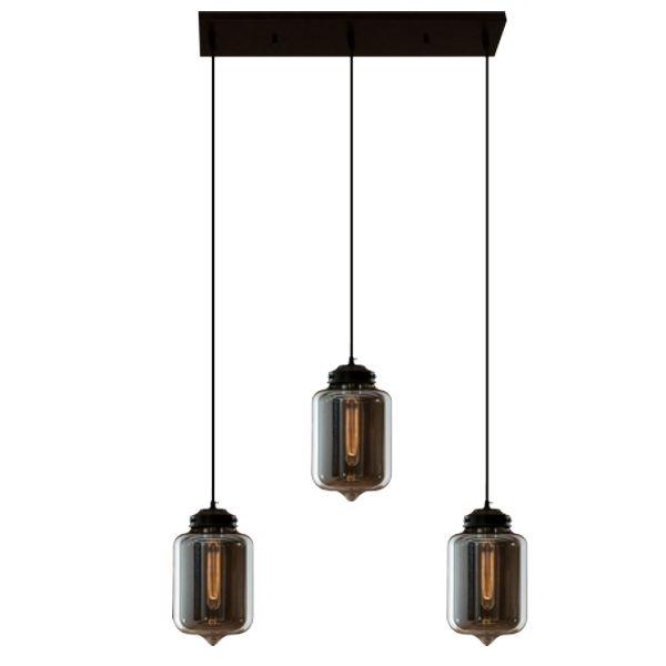Závěsné svítidlo Altavola Design London Loft 2 CL kouřové