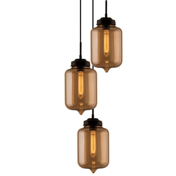 Závěsné svítidlo Altavola Design London Loft 2 CO jantarová