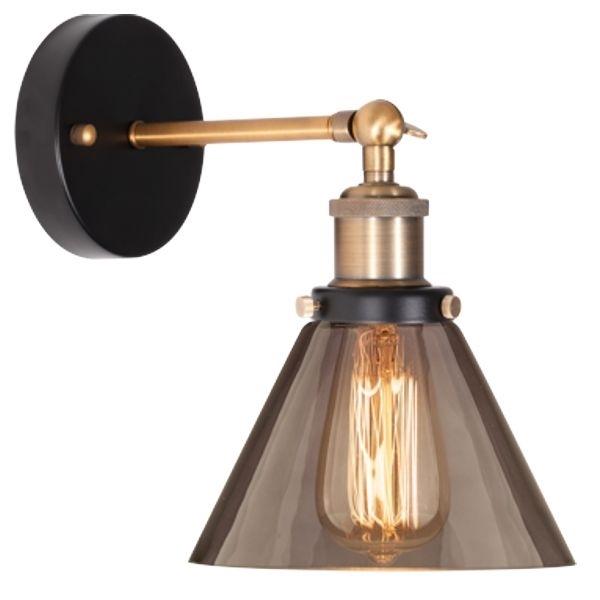 Nástěnné svítidlo Altavola Design New York Loft 1 kouřová