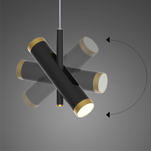 Lampa wisząca LUNETTE No. 3 czarna - zdjęcie nr 5