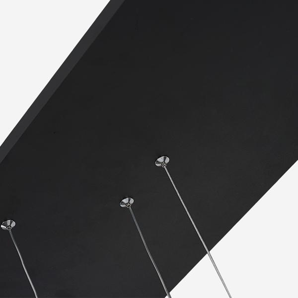 Lampa wisząca ledowe okręgi No.1 czarna 180 cm in 3k - zdjęcie nr 2
