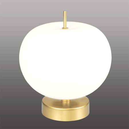 Stolní lampa LED Altavola Design APPLE T bílo zlatá