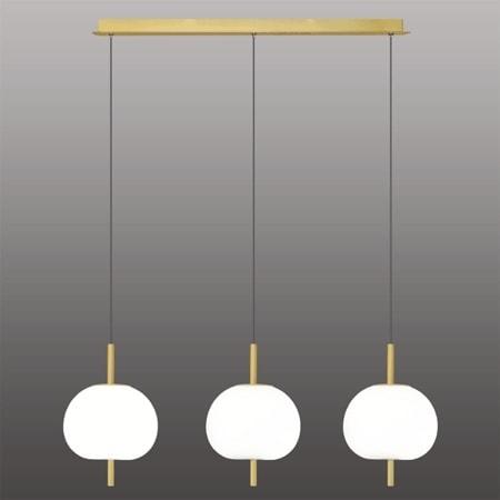 Závěsné LED svítidlo Altavola Design APPLE 3 bílo zlaté