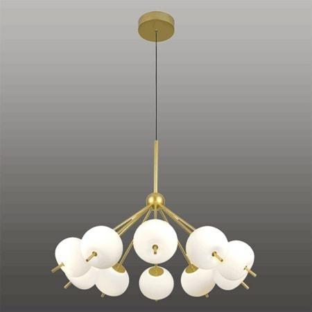 Závěsné LED svítidlo Altavola Design APPLE 10 bílo zlaté