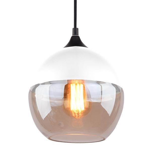 Závěsné svítidlo Altavola Design Manhattan Chic 1 bílo jantarové
