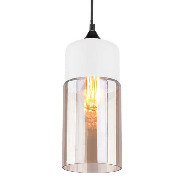 Závěsné svítidlo Altavola Design Manhattan Chic 4 bílo jantarové