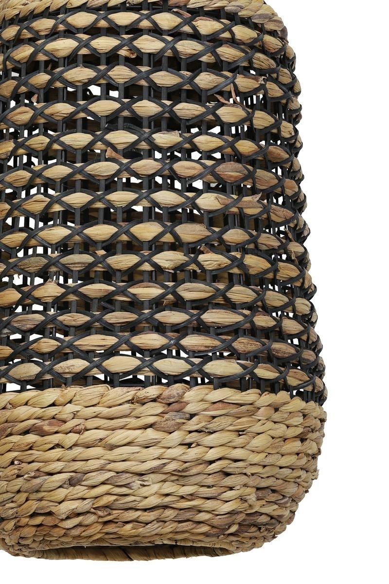 Závěsné ratanové svítidlo Tripoli přírodní a černá