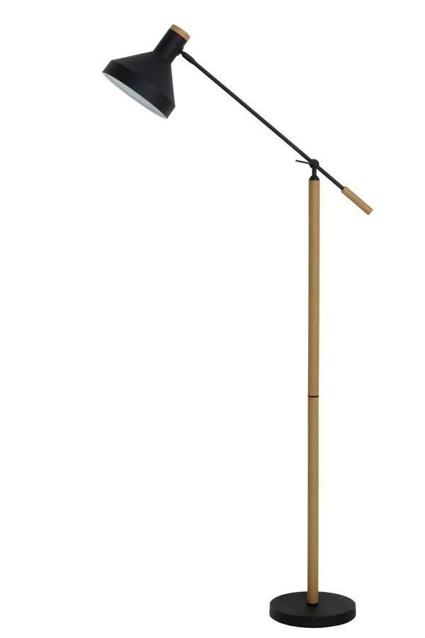 Stojací svítidlo Tiffin přírodní černá