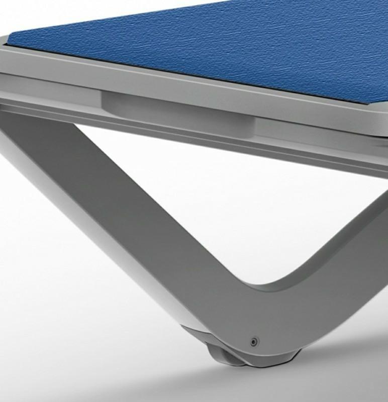 Leżak Sky Club Biały / niebieski - zdjęcie nr 4