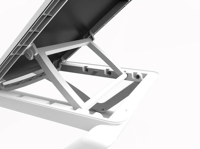 Leżak Sky Club Brązowy / beżowy - zdjęcie nr 2