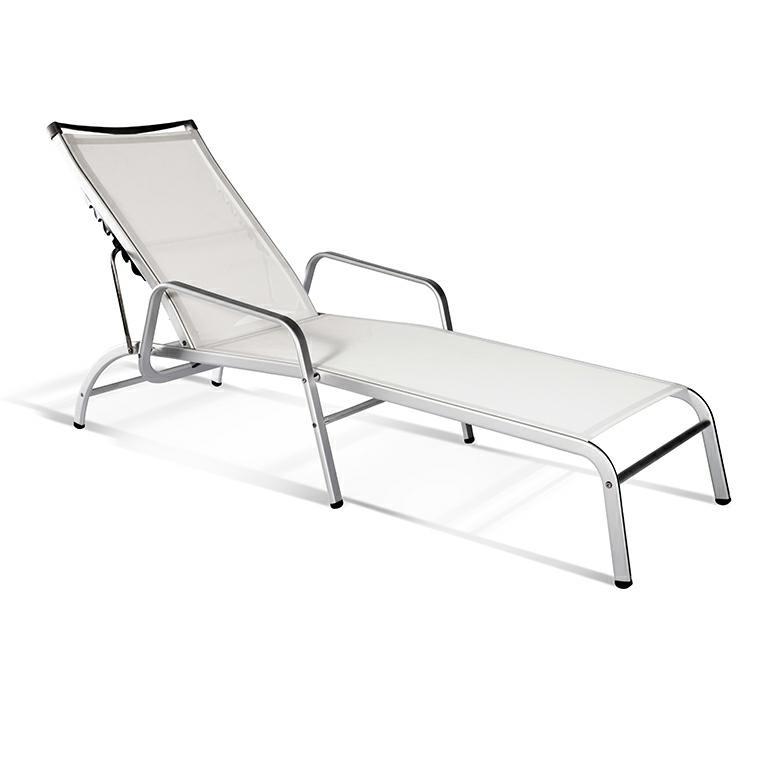 Leżak Lucca 17 biały/ chrom - zdjęcie nr 0
