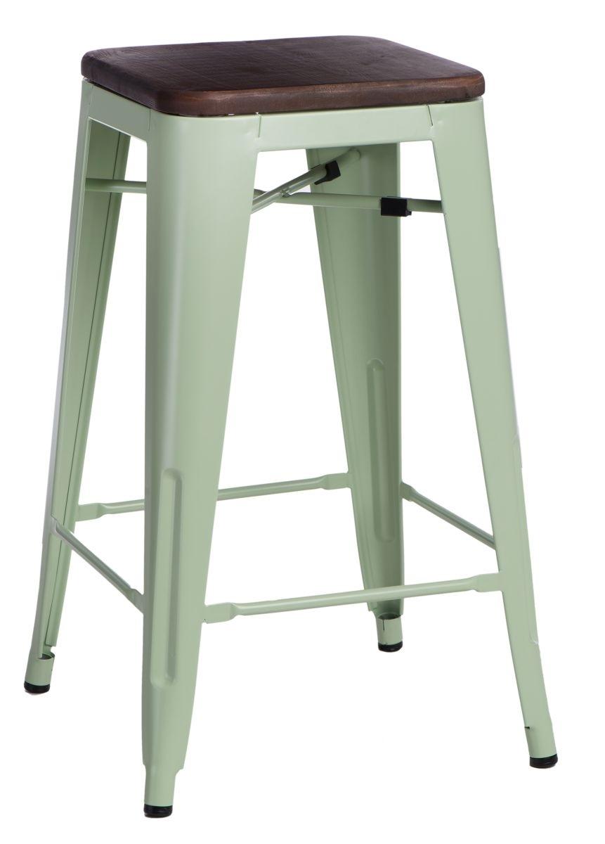 Barová židle Paris Wood 75cm zelená borovice ořech