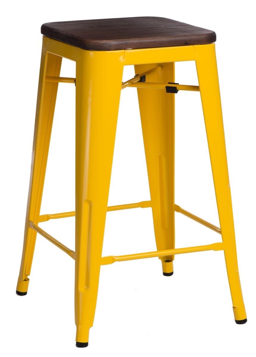 Barová židle Paris Wood 75cm žlutá borovice