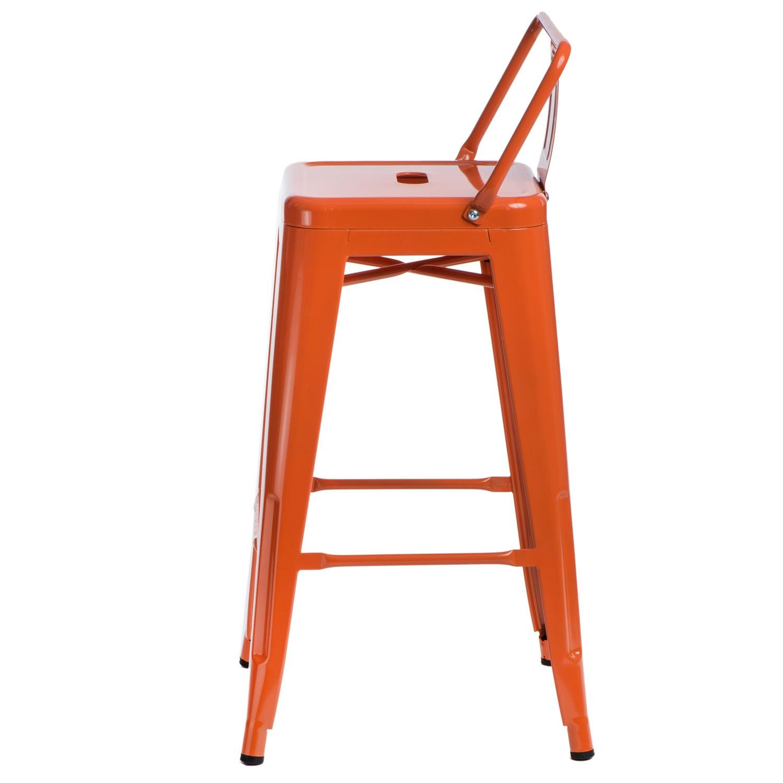 Hoker Paris 66cm short back pomarańczowy insp. Tolix - zdjęcie nr 1