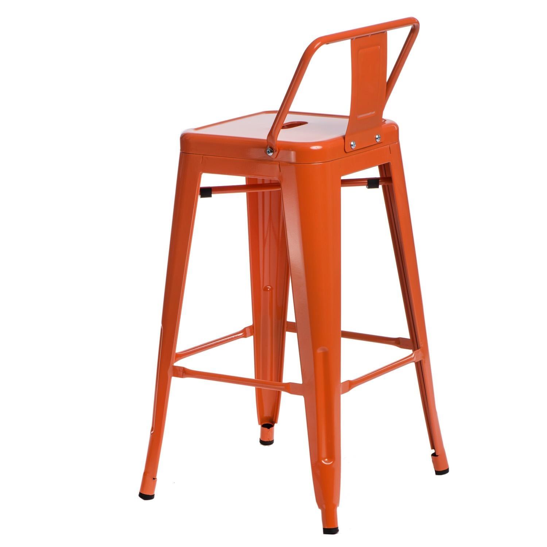 Hoker Paris 66cm short back pomarańczowy insp. Tolix - zdjęcie nr 2