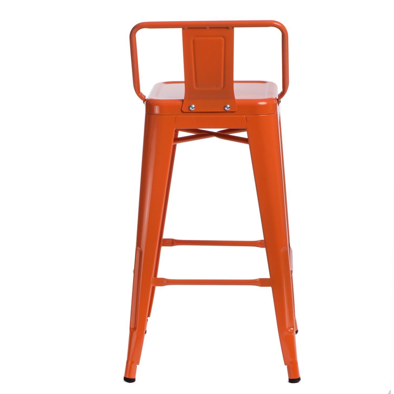 Hoker Paris 66cm short back pomarańczowy insp. Tolix - zdjęcie nr 3