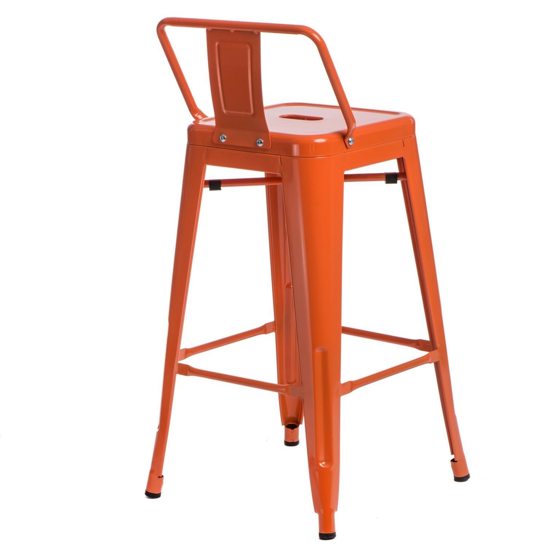 Hoker Paris 66cm short back pomarańczowy insp. Tolix - zdjęcie nr 4