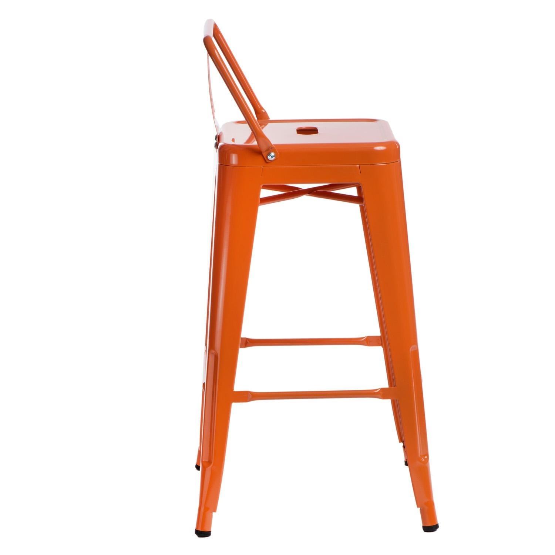 Hoker Paris 66cm short back pomarańczowy insp. Tolix - zdjęcie nr 5