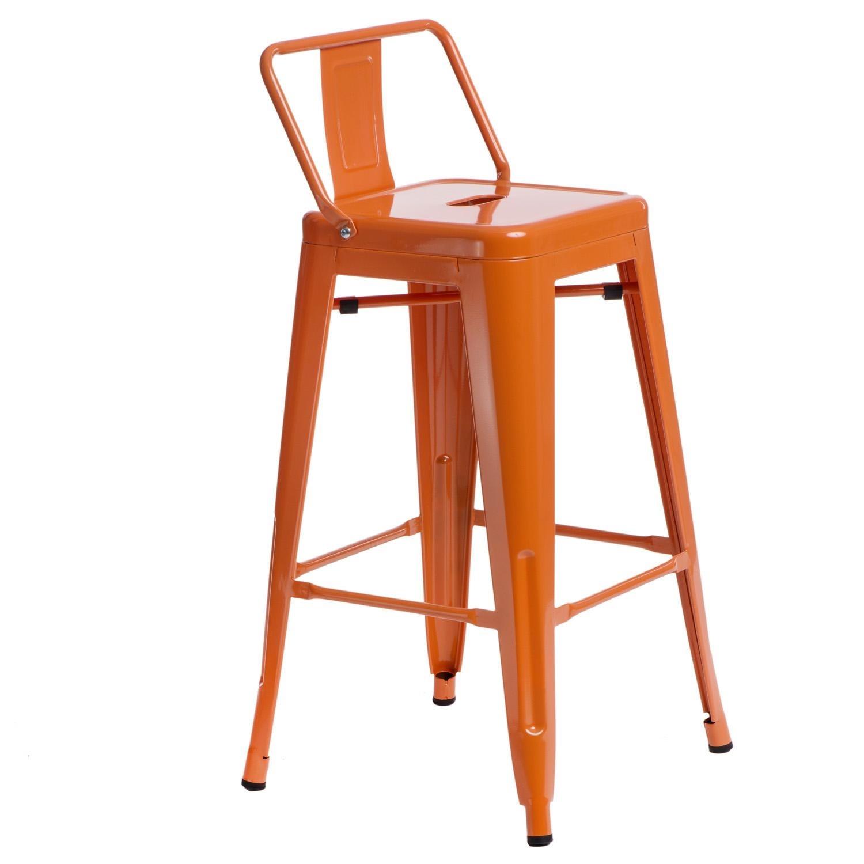 Hoker Paris 66cm short back pomarańczowy insp. Tolix - zdjęcie nr 6