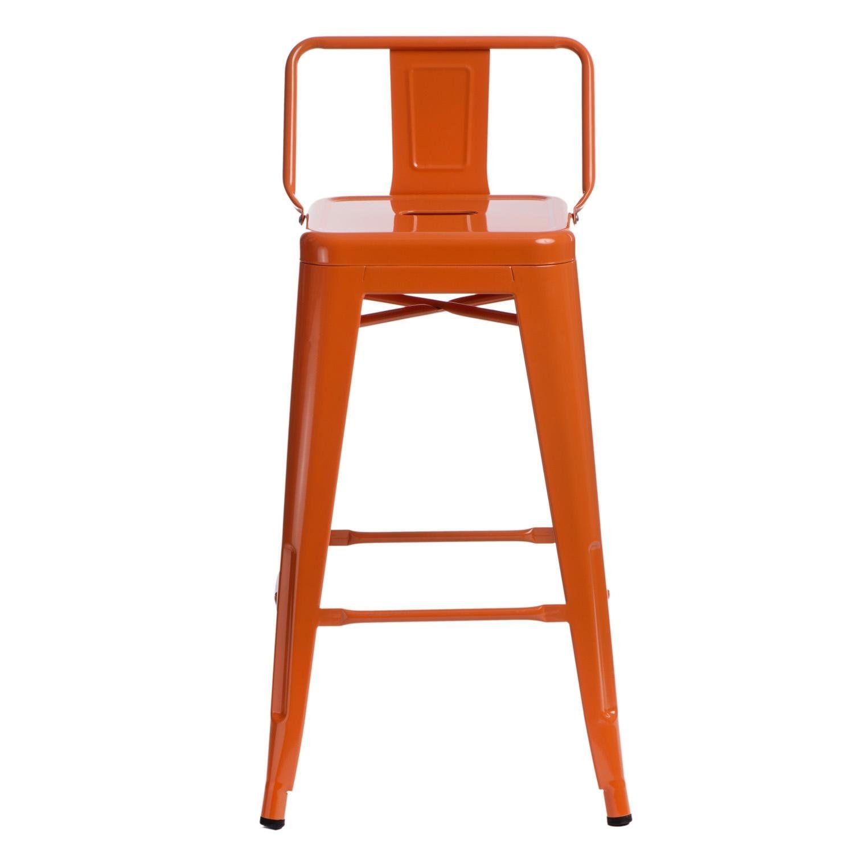 Hoker Paris 66cm short back pomarańczowy insp. Tolix - zdjęcie nr 7