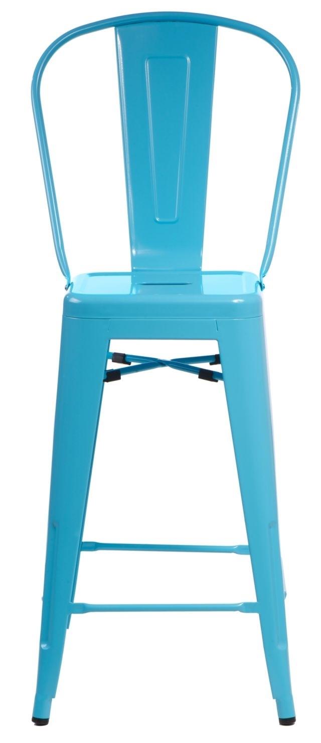 Barová židle s opěradlem Paris Back modrá