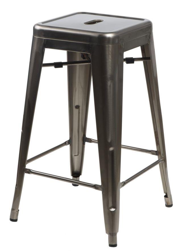 Barová stolička Paris 66cm metalická