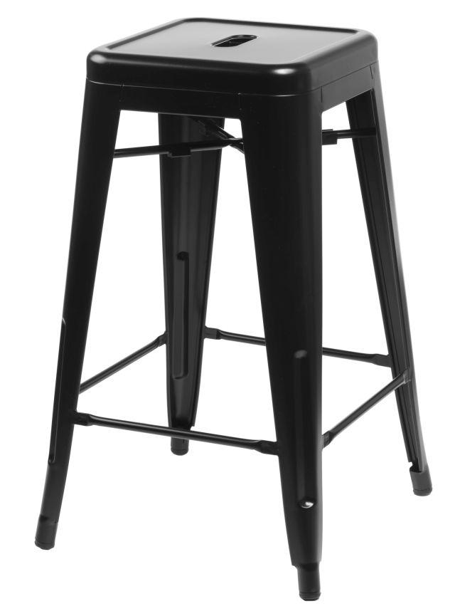 Barová stolička Paris 66cm černá