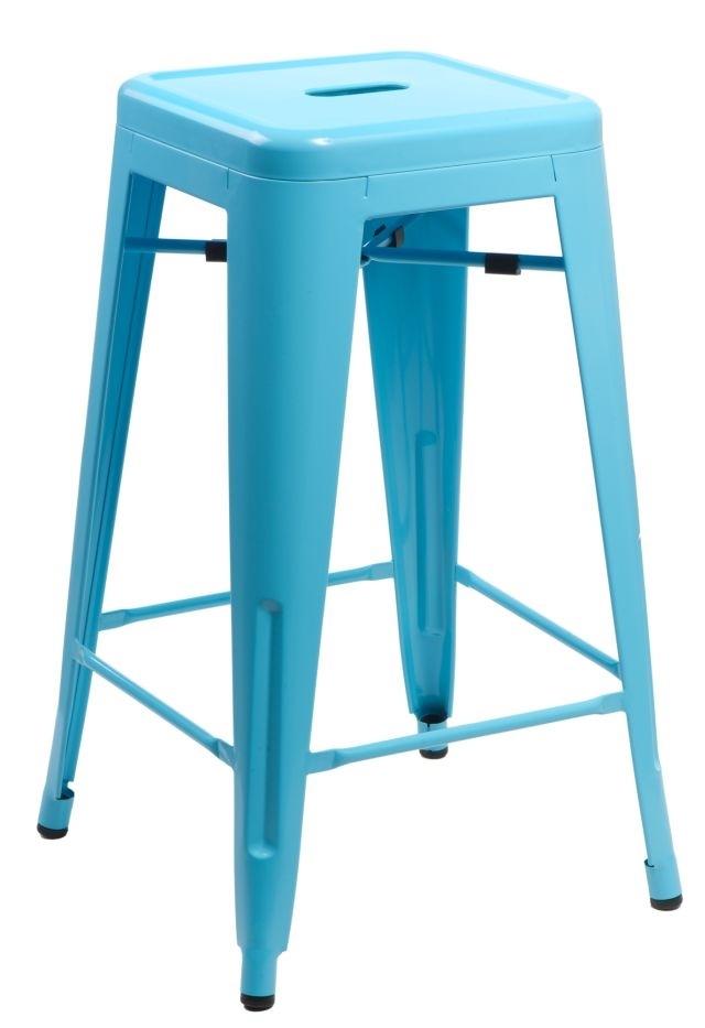Barová stolička Paris 66cm modrá