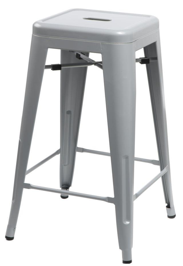 Barová stolička Paris 66cm šedá