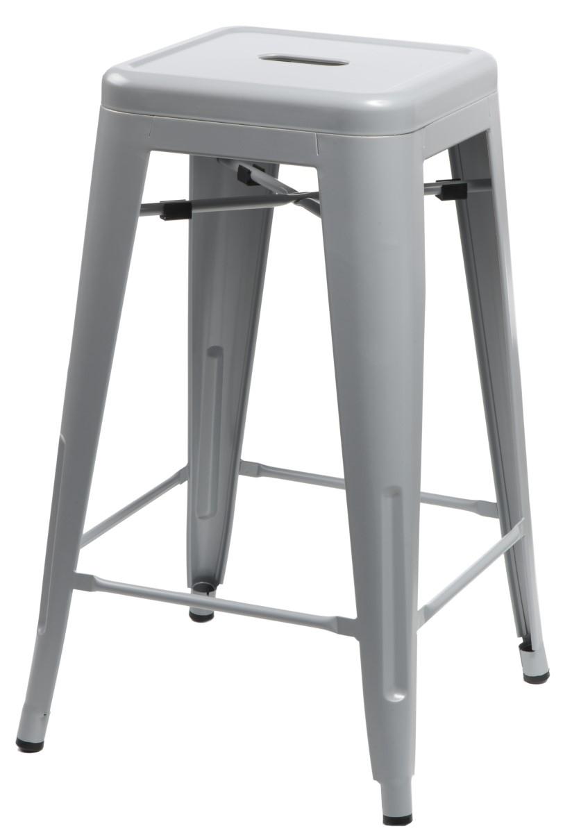 Barová stolička Paris 75cm šedá