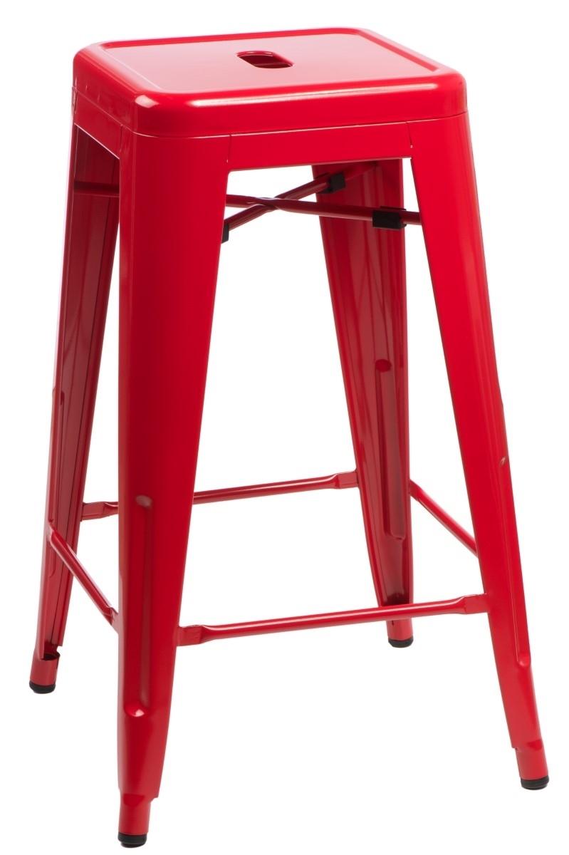 Hoker Paris 75cm. czerwony insp. Tolix - zdjęcie nr 0
