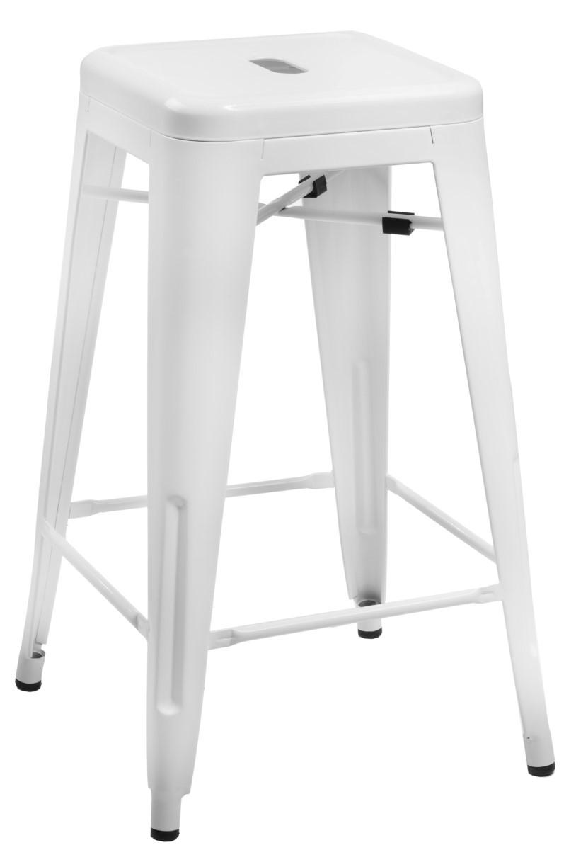 Barová stolička Paris 75cm bílá
