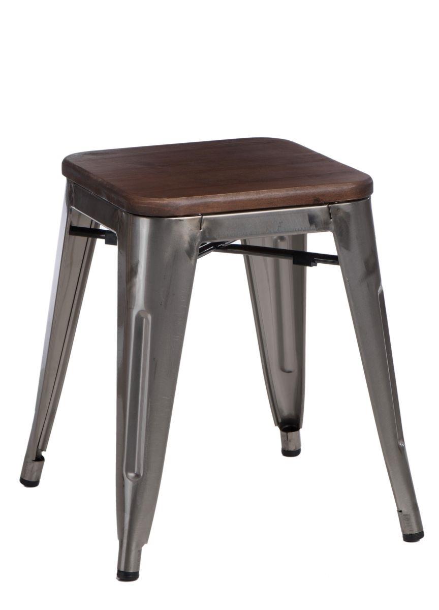 Stolička D2 Paris Wood metalická 45 cm borovice