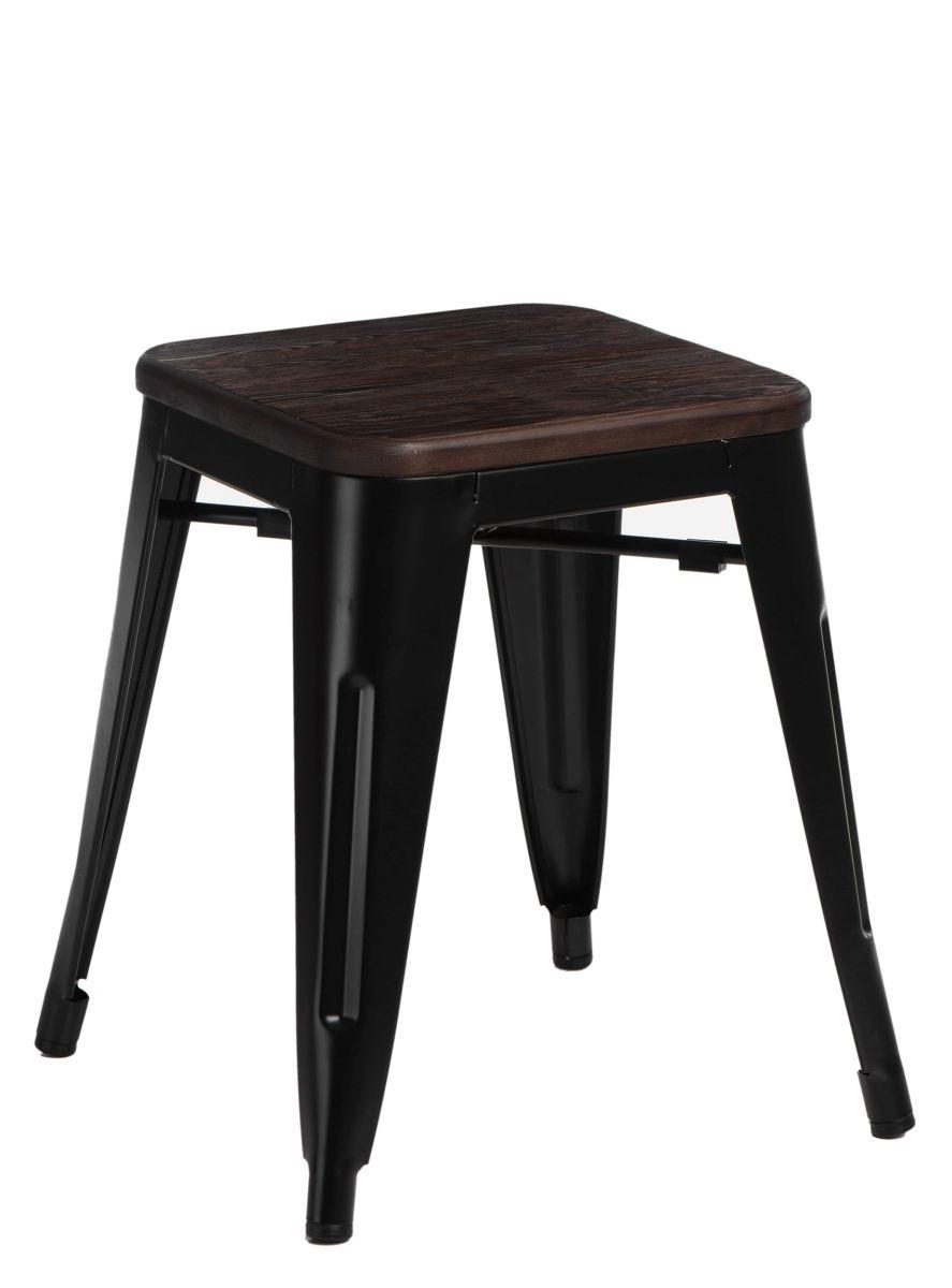 Stolička D2 Paris Wood černá 45 cm kartáčovaná borovice