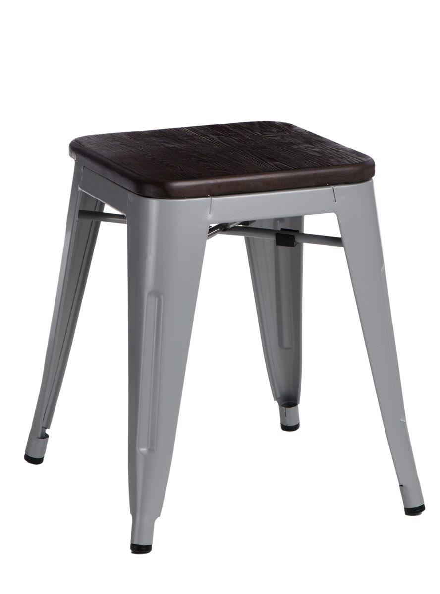 Stolička D2 Paris Wood šedá 45 cm kartáčovaná borovice