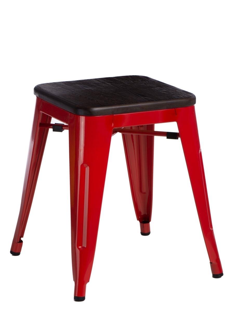 Stolička D2 Paris Wood červená 45 cm kartáčovaná borovice