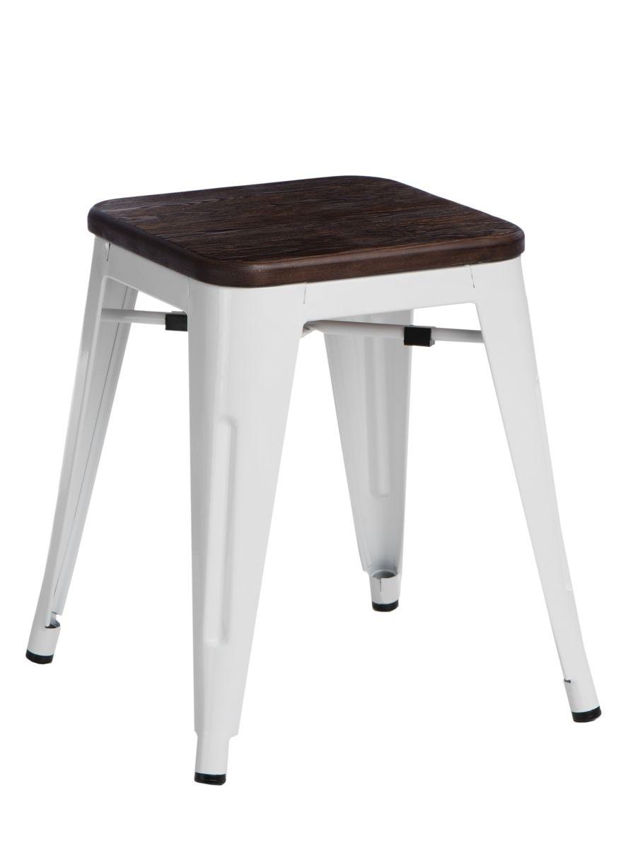 Stolička D2 Paris Wood bílá 45 cm kartáčovaná borovice