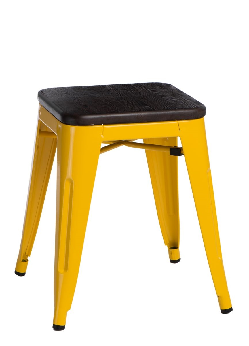 Stolička D2 Paris Wood žlutá 45 cm kartáčovaná borovice