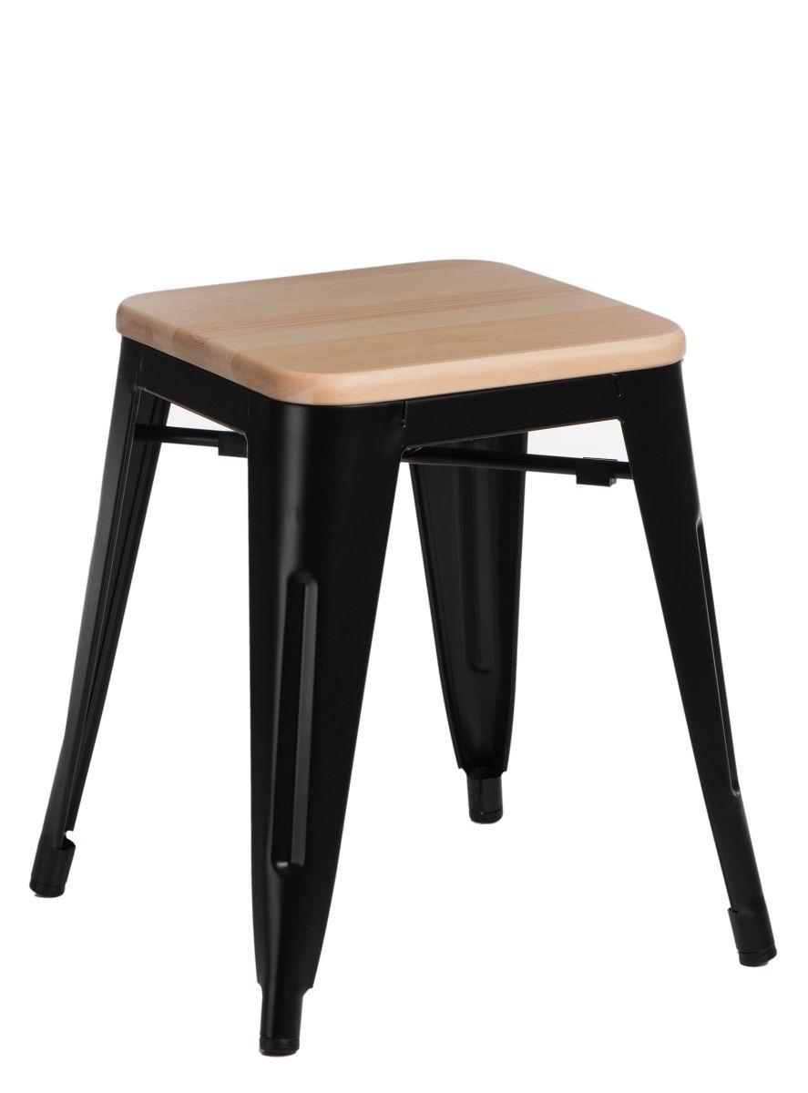 Stolička D2 Paris Wood černá 45 cm přírodní borovice