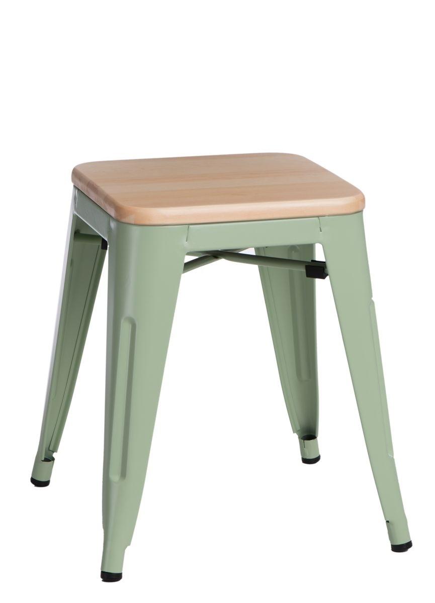 Stolička D2 Paris Wood zelená 45 cm přírodní borovice
