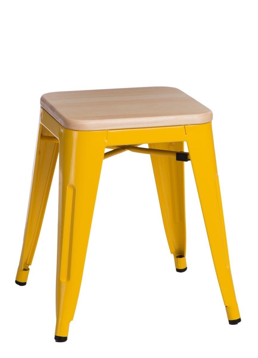 Stolička D2 Paris Wood žlutá 45 cm přírodní borovice
