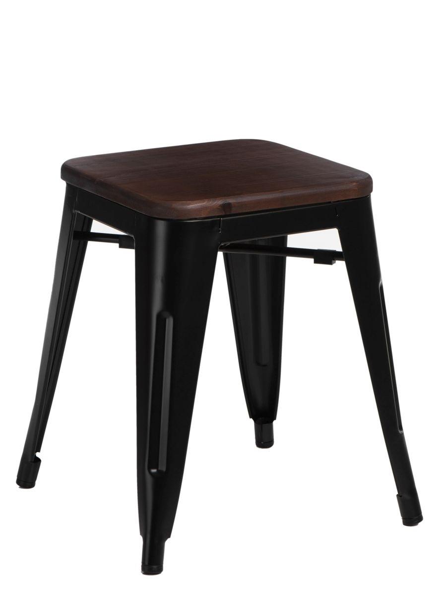 Stolička D2 Paris Wood černá 45 cm borovice