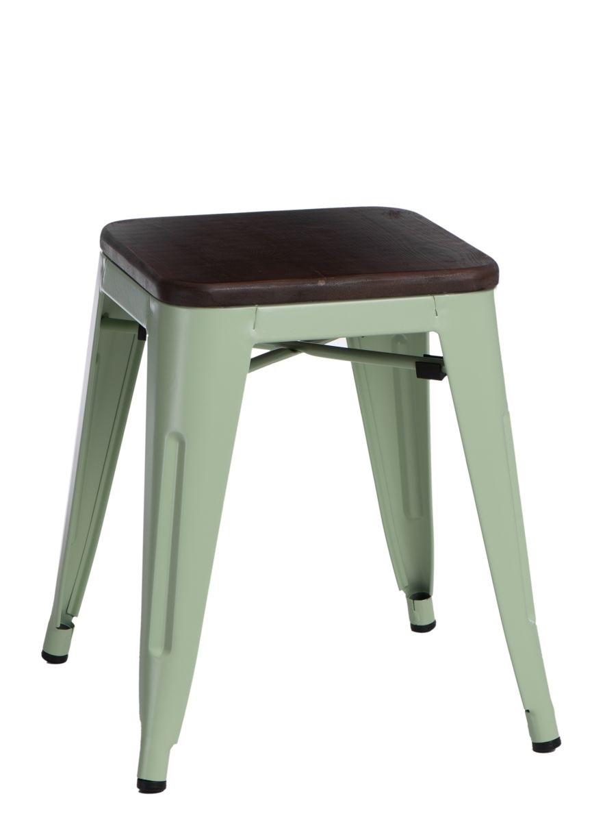 Stolička D2 Paris Wood zelená 45 cm borovice