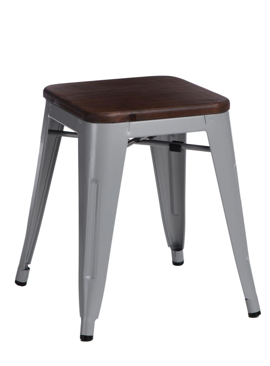Stolička D2 Paris Wood šedá 45 cm borovice