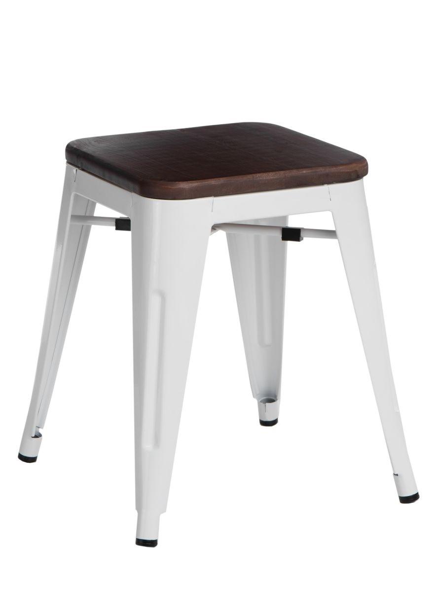 Stolička D2 Paris Wood bílá 45 cm borovice