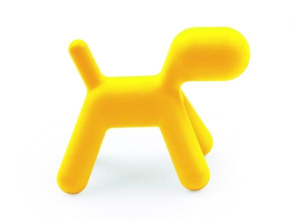Dětská stolička Pes žlutý