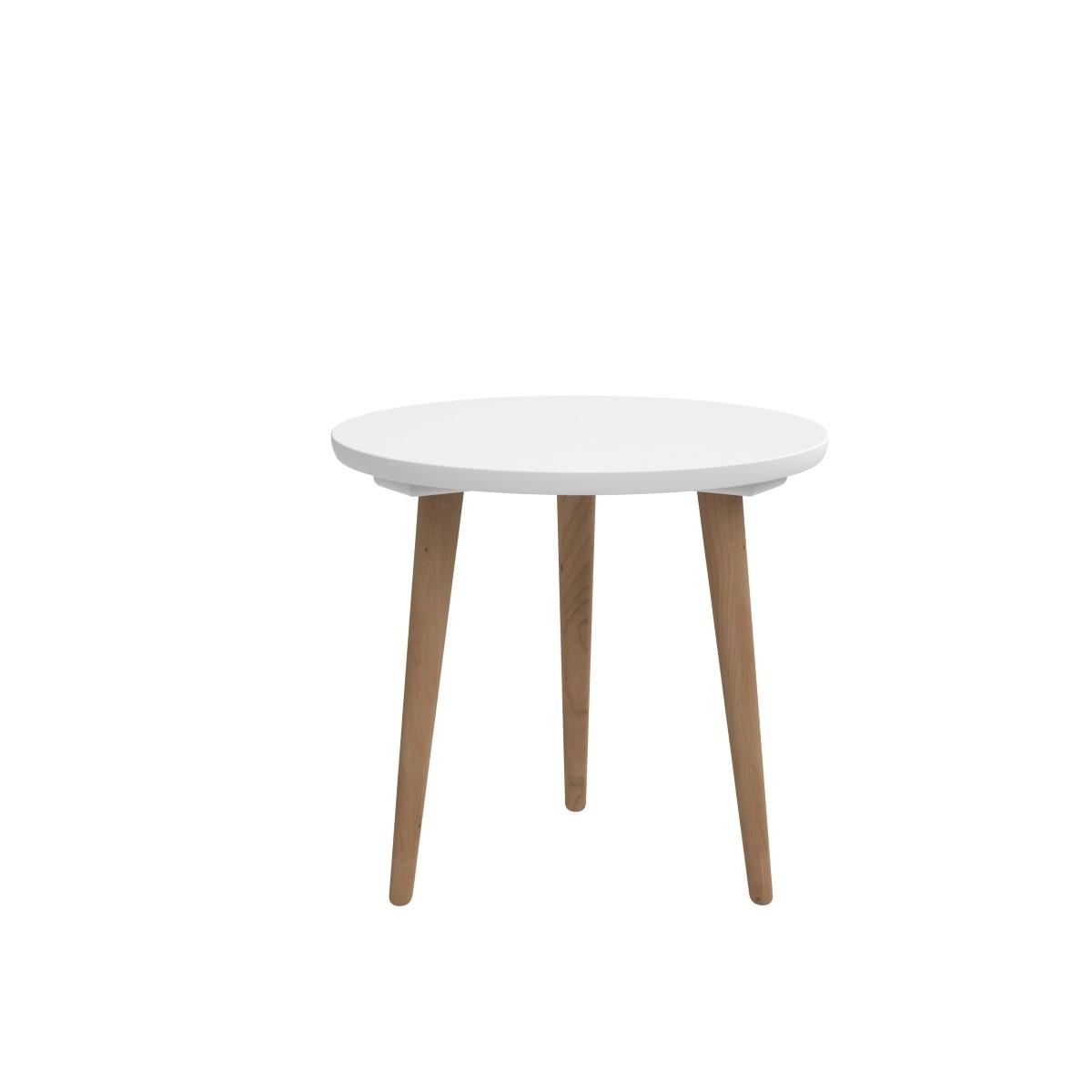 Odkládací stolek Bergan střední s bílou deskou