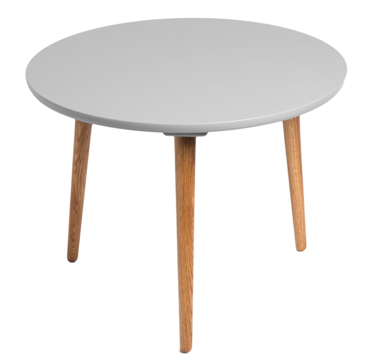 Odkládací stolek Bergan střední s šedou deskou