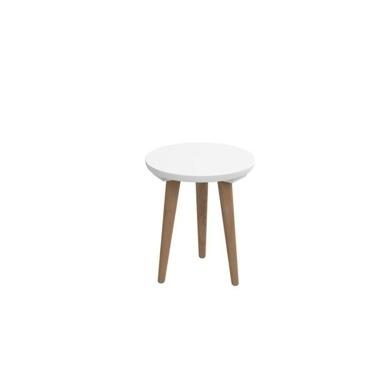 Odkládací stolek Bergan malý s bílou deskou